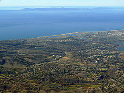 Aerial view of Newport Beach on December 27, 2013