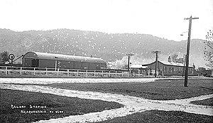 Ngaruawahia Railway Station - Image: Ngāruawāhia railway station 1910