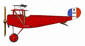 "Jean Navarre - The red aeroplane of Navarre. The ""Guardian of Verdun""."