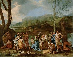 Saint John Baptizing in the River Jordan