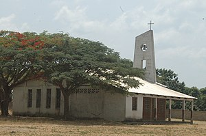 Religion in the Central African Republic - A Christian church in the Central African Republic.