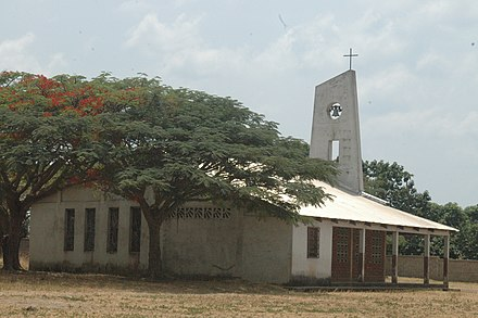 A Christian church in the Central African Republic. Niem (RCA) - Eglise de brousse 1.jpg