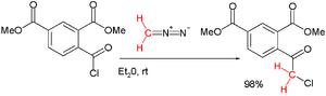 Insertion reaction - Nierenstein 1924