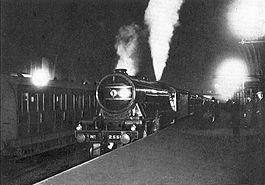 Night Scotsman awaiting departure from King's Cross (CJ Allen, Steel Highway, 1928).jpg