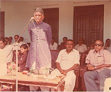 Nihalchand Pabani giving a speech on 14 August (Independence Day)