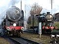 No.70013 Oliver Cromwell Britannia Class 7MT & no.1744 (BR No. 69523) GNR Class N2 (6779052985) (2).jpg