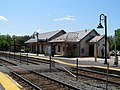 North Billerica station and new pedestrian crossing, May 2016.JPG