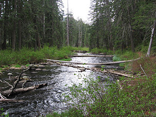 Little Butte Creek river in the United States of America
