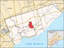 Location of North Toronto in Toronto