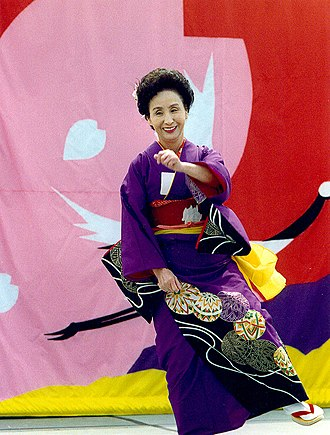 Japantown, San Francisco - Dancer at the Northern California Cherry Blossom Festival (1990s).