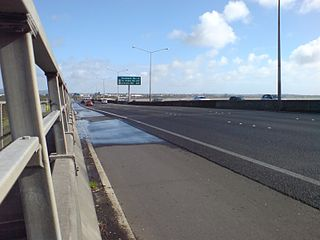 Northwestern Motorway road in New Zealand
