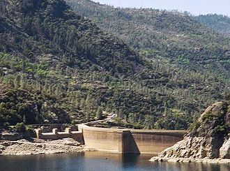Hetch Hetchy - The same area seen today, with O'Shaughnessy Dam and Hetch Hetchy Reservoir