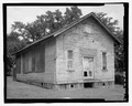 OBLIQUE OF FAand-199;ADE AND LEFT ELEVATION - Cadentown Rosenwald School, Caden Lane, Lexington, Fayette County, KY HABS KY-288-3.tif