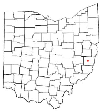Belmont, Ohio - Image: OH Map doton Belmont