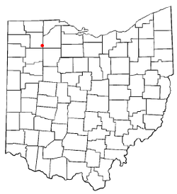 Location of Deshler, Ohio