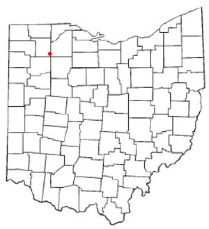 Deshler, Ohio - Image: OH Map doton Deshler