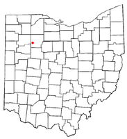 Location of Mount Cory, Ohio
