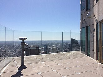 U.S. Bank Tower (Los Angeles) - Image: OUE Skyspace LA terrace