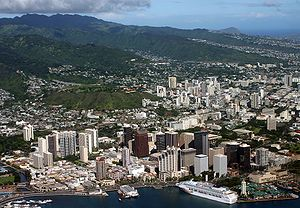 Oahu from the air.