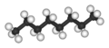 Kugel-Stab-Modell von Octan