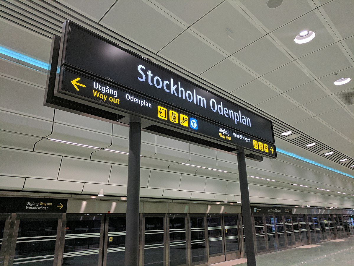 Sl Karta Stockholm Uppsala.Odenplan Pendeltagsstation Wikipedia