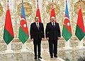 Official welcoming ceremony for Ilham Aliyev was held in Belarus 01.jpg