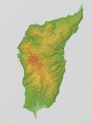 Okushiri Island - Relief Map