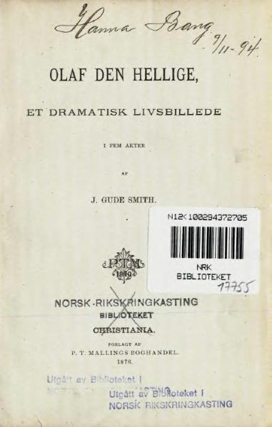 File:Olaf den Hellige, et dramatisk Livsbillede.djvu