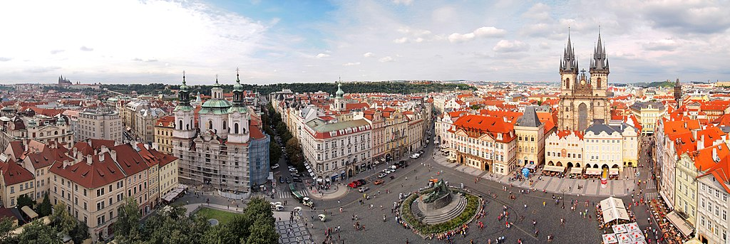 Old Town Square - panorama