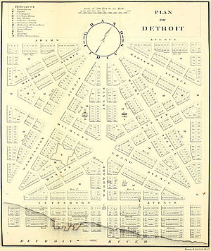 Grand Circus Park Historic District - Augustus Woodward's plan for Detroit's baroque styled radial avenues and Grand Circus Park