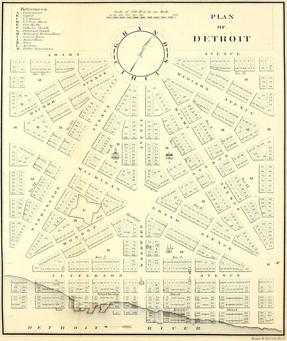 Old map 1807 plan