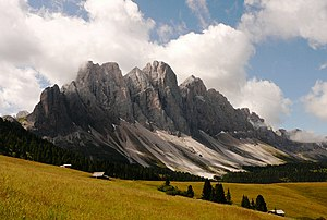 The mountain group of the Odle, South Tyrol, Italy