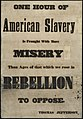 One hour of American slavery is fraught with more misery than ages of that which we rose in rebellion to oppose. (7645378774).jpg