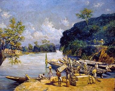 Oscar Pereira da Silva - Carga de Canoas, Acervo do Museu Paulista da USP.jpg