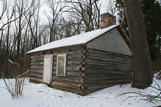 Guild Park and Gardens - To the west of the Guild Inn property exists Osterhout Log Cabin, one of the oldest buildings in Toronto.
