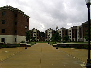 Ouachita Baptist University - Ouachita's Student Village residence halls are connected to the main campus via Heflin Plaza, a walkway that bridges the campus ravine