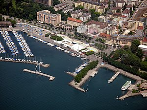 2014 Archery World Cup - Ouchy harbour, the venue for the finals.