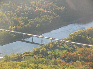 Pennsylvania Route 120 - The PA 120 bridge over the West Branch Susquehanna River, as seen from Hyner View State Park in Clinton County.