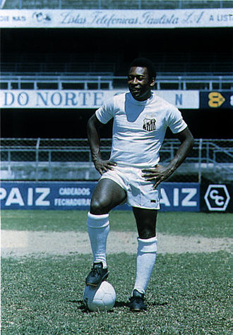 "Santos FC - Pelé, known throughout the world as ""The King of Football""."