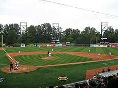 A Eugene Emeralds baseball game at PK Park in June 2010