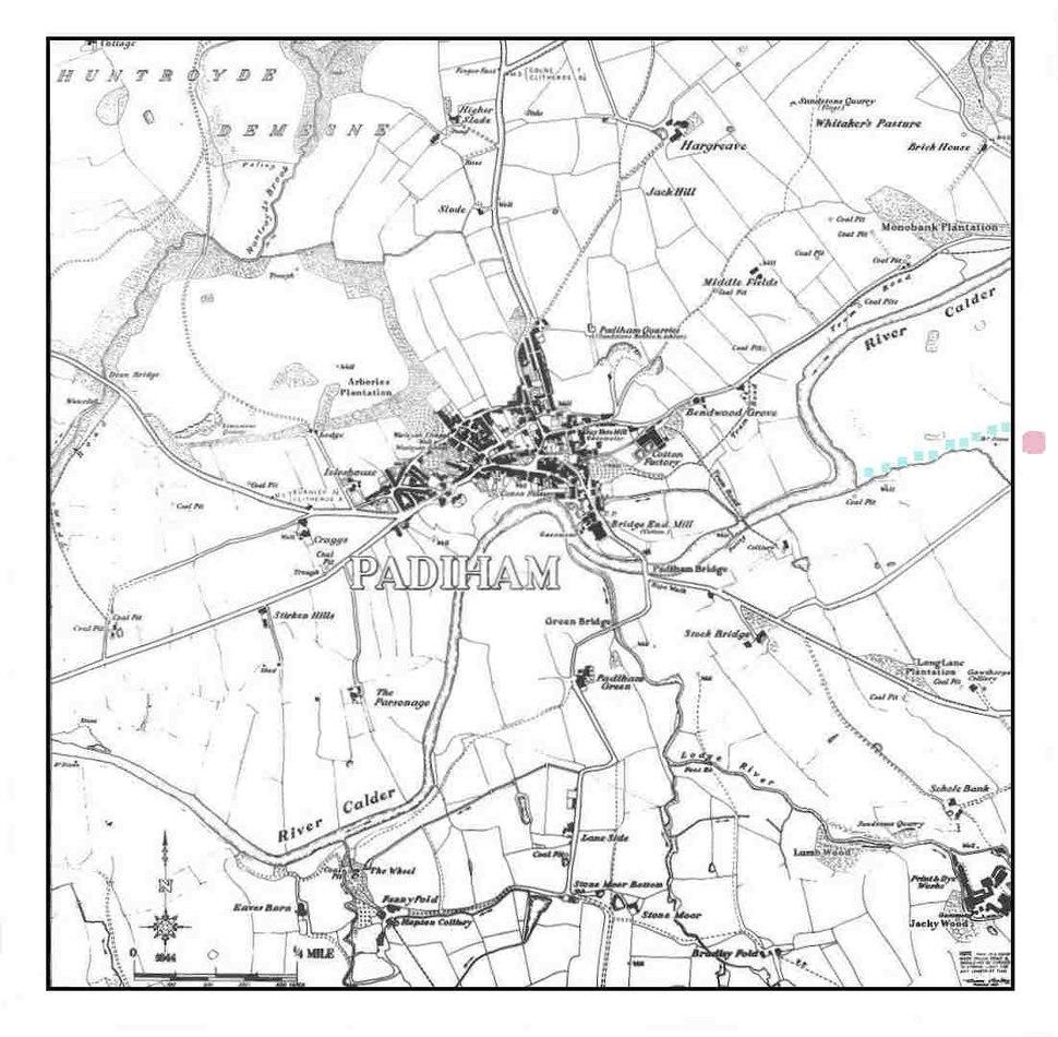 Padiham map ca1844