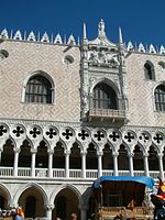 Doges Palace In Venice Gothic Architecture Appeared Italy