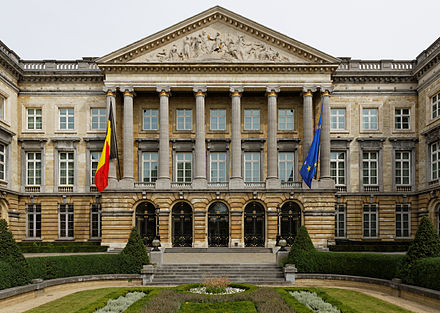 The Belgian Federal Parliament in Brussels, one of six different governments of the country Palais de la Nation Bruxelles.jpg