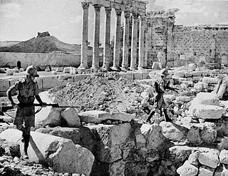Battle in Syria during the Syria-Lebanon campaign in World War II