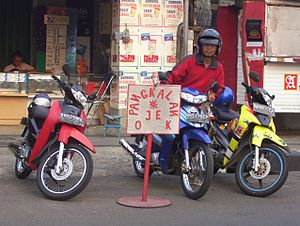 Motorcycle taxi - Motorcycle taxis in Indonesia