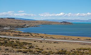 Argentino Lake - Image: Panorámica del Lago Argentino, desde la ciudad de El Calafate