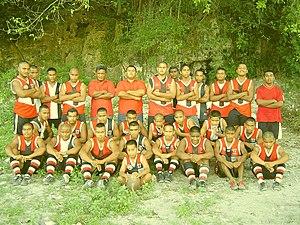Australian rules football in Nauru - The Panzer Saints U17s squad in 2003