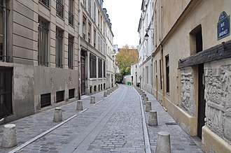 Camille Saint-Saëns - The rue du Jardinet, site of Saint-Saëns's birthplace