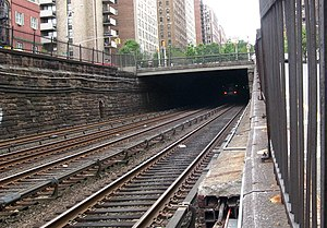 Looking south into the Park Avenue Tunnel