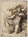 Parmigianino - Saint Roch un genou en terre, implorant le ciel, INV 6397, Recto.jpg